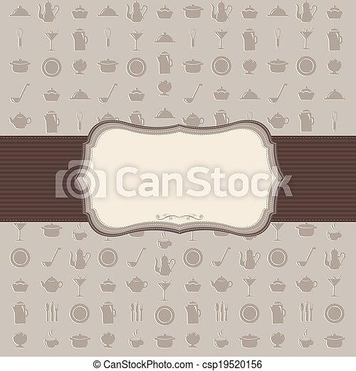 weinlese, hintergrund, kueche  - csp19520156