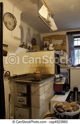 Vintage-Küche - csp4523860