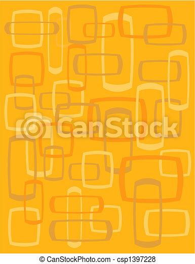 Vintage Retro Quadrate Hintergrund - csp1397228