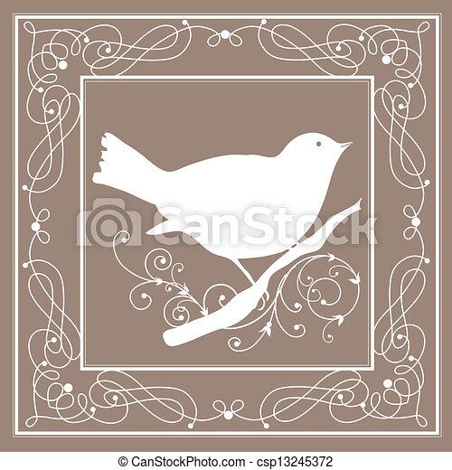 Vogelrahmen Vintage - csp13245372