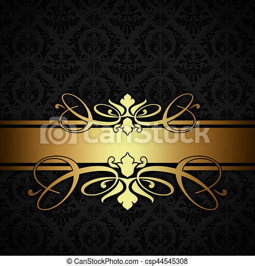 weinlese schwarz gold hintergrund dekorativ goldenes weinlese altmodisch patterns. Black Bedroom Furniture Sets. Home Design Ideas