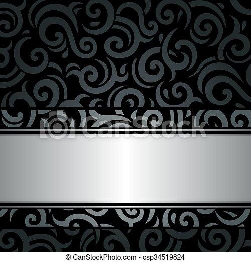Weinlese, schwarz, silber, hintergrund, & &, weinlese, tapete ...
