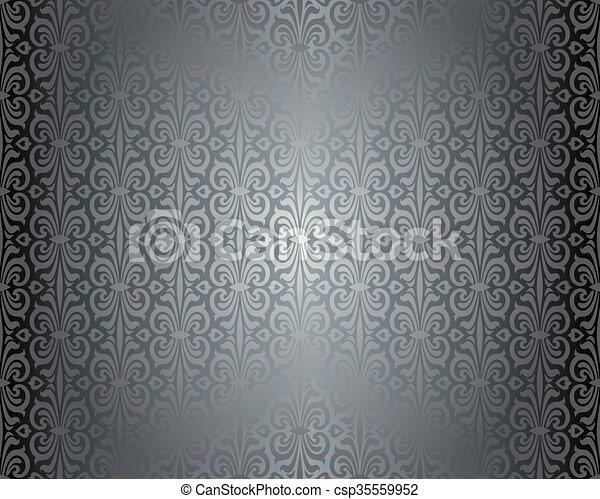 weinlese tapete gl nzend silber weinlese tapete. Black Bedroom Furniture Sets. Home Design Ideas