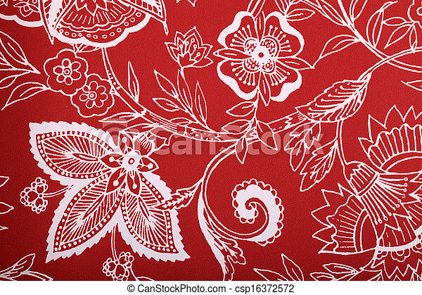 weinlese tapete vignette viktorianische muster wei rot csp16372572 - Tapete Rot Muster