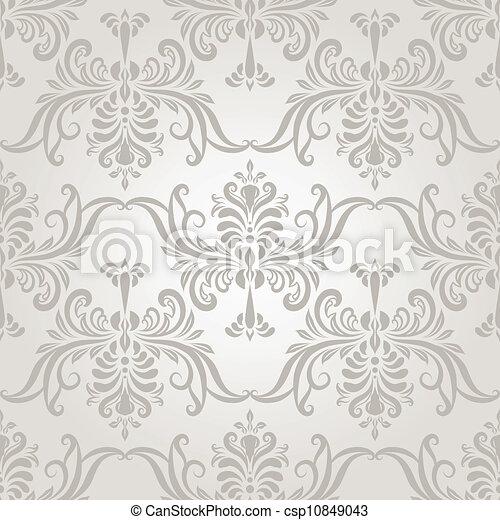 weinlese, vektor, seamless, tapete- muster - csp10849043