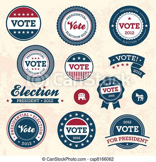 Renovierte Wahlabzeichen - csp8166062