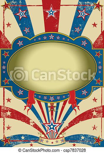 Zirkus Vintage-Poster - csp7837028
