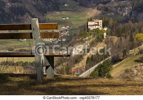 Weissenstein Castle in ski resort Matrei in Osttirol, Austria - csp43378177