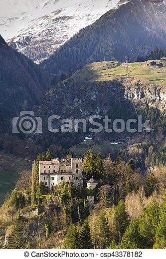 Weissenstein Castle in ski resort Matrei in Osttirol, Austria - csp43378182