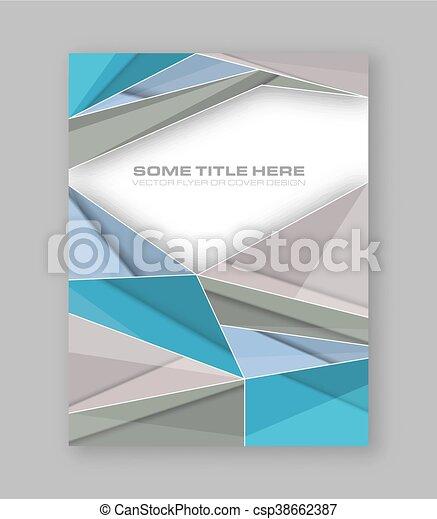 wektor, barwny, banner., abstrakcyjny, polygonal, lotnik, projektować, broszura, zbiorowy, albo, szablon - csp38662387
