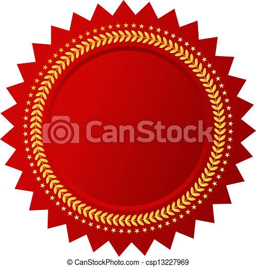 wektor, czerwony, świadectwo - csp13227969