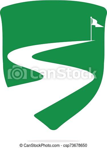 wektor, design., powodzenie, droga, logo - csp73678650