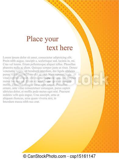 wektor, dokument, szablon, strona - csp15161147