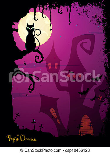 wektor, halloween, tło - csp10456128