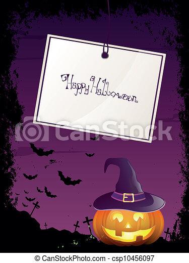 wektor, halloween, tło - csp10456097