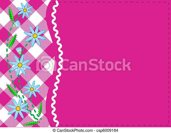 wektor, kopiować przestrzeń, różowy, eps, 8, gingha - csp6009184