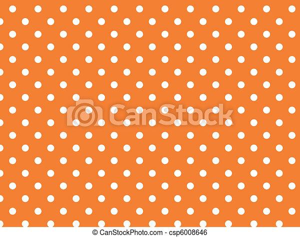 wektor, kropkuje, eps, 8, pomarańcza, polka - csp6008646