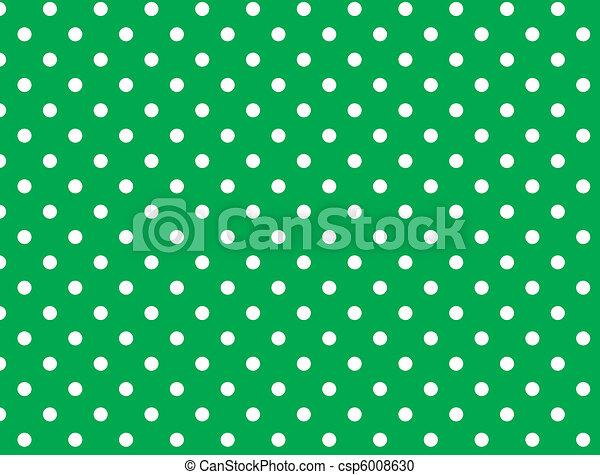 wektor, kropkuje, eps, zielony, 8, polka - csp6008630