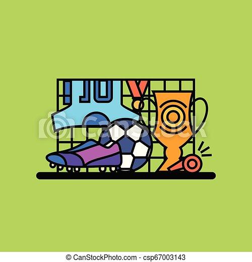 wektor, piłka nożna, ilustracja - csp67003143