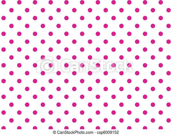 wektor, różowy, kropkuje, biały, eps8, polka - csp6009152