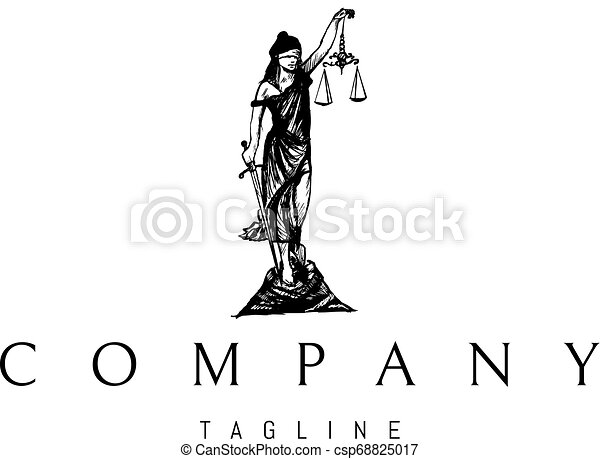 wektor, sprawiedliwość, 2, czarnoskóry, statua, logo, projektować, dama - csp68825017