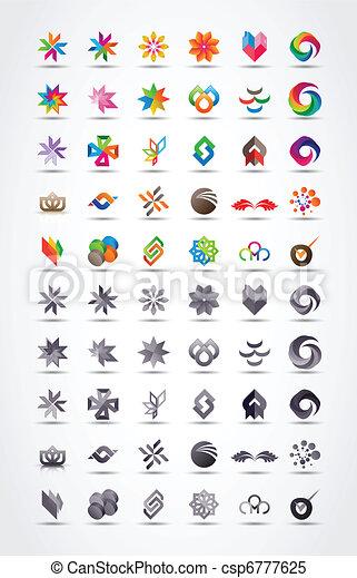 wektor, wystawiany zamiar, elementy, ikona - csp6777625
