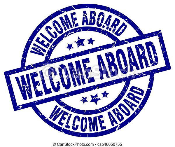 welcome aboard blue round grunge stamp clipart vector search rh canstockphoto com