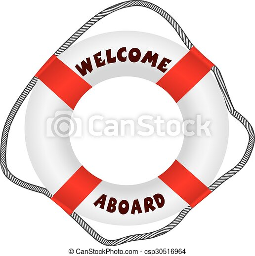 welcome aboard lifebuoy classic lifebuoy with text welcome clip rh canstockphoto com