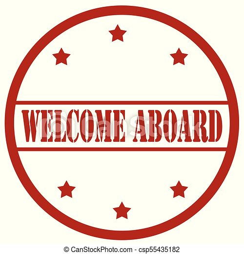 welcome aboard stamp red stamp with text welcome vector search rh canstockphoto com
