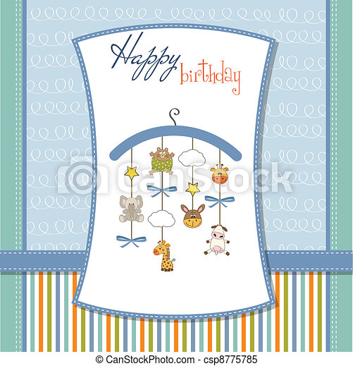 welcome baby announcement card  - csp8775785