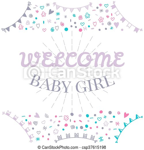 Welcome baby girl baby shower greeting card cute baby girl shower welcome baby girl baby shower greeting card cute baby girl shower card baby m4hsunfo