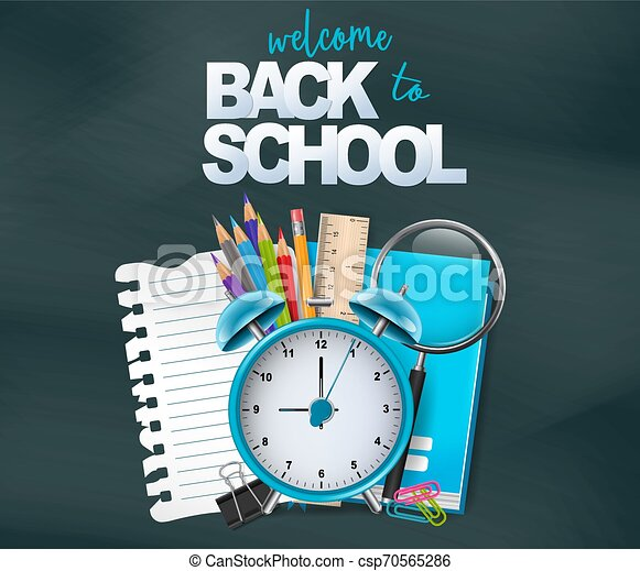 Welcome back to school design card. Vector illustration. - csp70565286