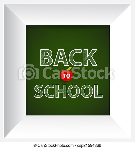 Welcome back to school, vector illustration. - csp21594368