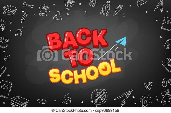 Welcome back to school vector concept - csp90699159