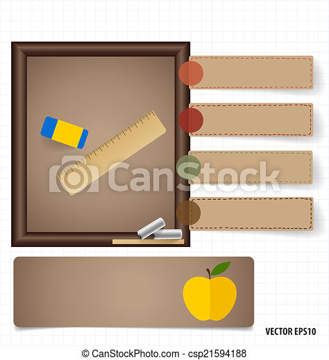 Welcome back to school, vector illustration. - csp21594188