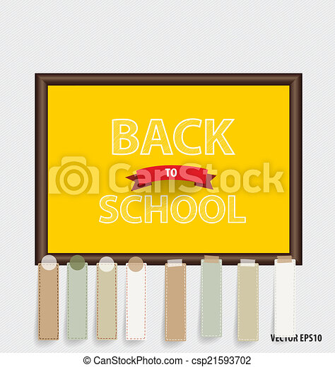 Welcome back to school, vector illustration. - csp21593702