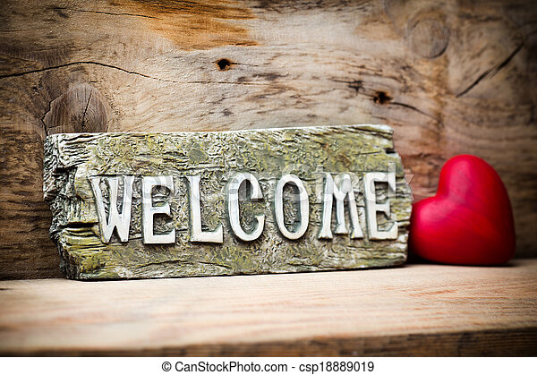 welcome. - csp18889019