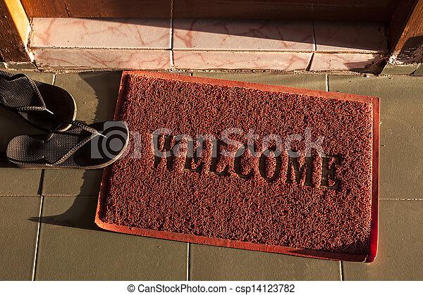 Welcome Doormat   Csp14123782