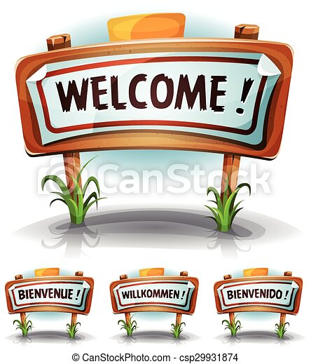 welcome farm or country sign illustration of a cartoon vectors rh canstockphoto com welcome to las vegas sign clip art free welcome to vegas sign clip art