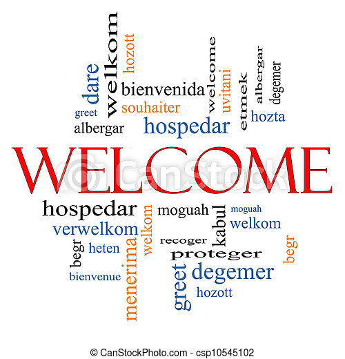 Welcome foreign language word cloud welcome word cloud concept with welcome foreign language word cloud csp10545102 m4hsunfo