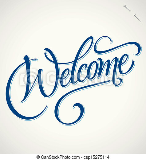 welcome hand lettering vector welcome hand lettering handmade