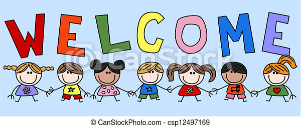 welcome header invitation rh canstockphoto com clipart welcome back clipart welcome back to school