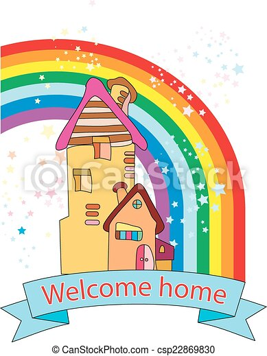 Congratulations welcome home greeting card with new home m4hsunfo