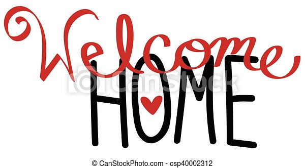 welcome home rh canstockphoto com free clipart welcome home clipart welcome home sign