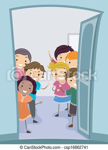 open door welcome. Brilliant Welcome Welcome Kids  Csp16862741 For Open Door