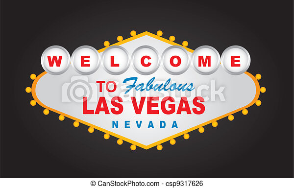 welcome las vegas - csp9317626