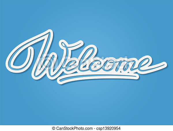 Welcome lettering - csp13920954