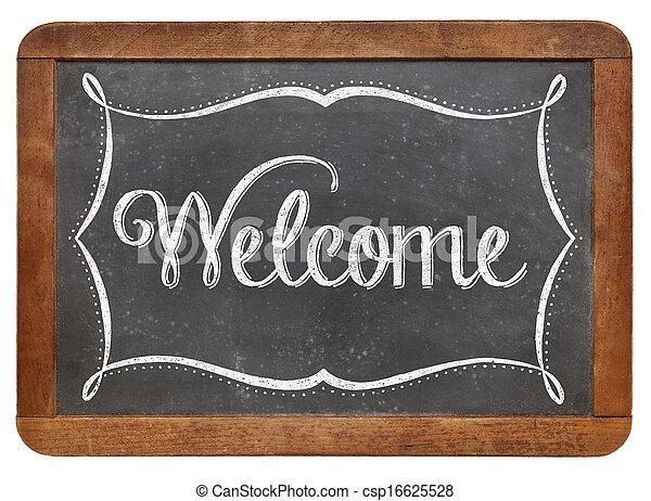 Welcome on slate blackboard - csp16625528