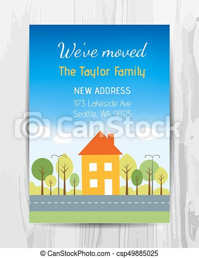 Welcome party invitation card new home party flyer vector welcome party invitation card new home party flyer vector stopboris Images