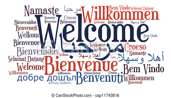 Welcome phrase in different languages - csp11743816